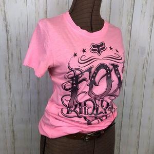 Fox Racing | Pink & Black Graphic T-Shirt | XL